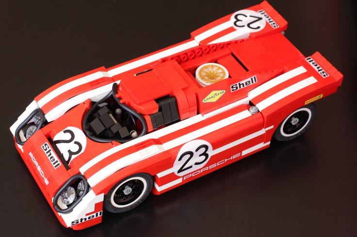 Porsche 917K With Decals Lego cars, Lego wheels, Lego