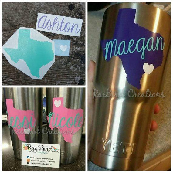 Best Yeti Coolercup Ideas Images On Pinterest Yeti Cooler - Custom custom vinyl decals for cups