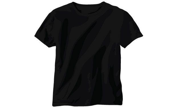 Download Black Vector T Shirt Shirt Template T Shirt Design Template Blank T Shirts