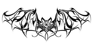 bat tattoo designs   Tribal Bat Tattoo Design