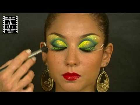 Make-Up Atelier Paris: Make Up Tutorial - Carnaval LOVE THE BROW WORK!!! (HELENE QUILLE)