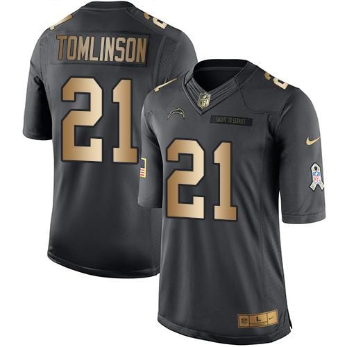 93d245663 Cheap NFL Jerseys Nike Buccaneers Jameis Winston Black Mens Stitched NFL  Limited Gold Salute To Service Nike Chargers 21 LaDainian Tomlinson ...
