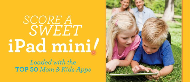 Enter to win an iPad Mini loaded with 50 mom and kid apps! ends 7/30