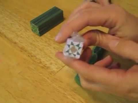 Tutorial: How to form a polymer clay triangle cane - YouTube