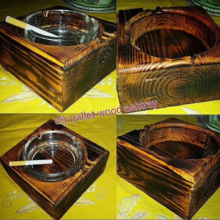 diy pallet wood ashtray