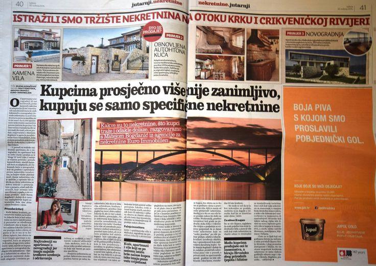 MATEJA BOGDANIĆ FÜR JUTARNJI LIST - Durchschnittliches ist nicht mehr interessant, spezifische Immobilien werden gekauft. Welche Immobilien werden am meisten nachgefragt, was ist Neu auf dem Immobilienmarkt auf der Insel Krk und Riviera von Crikvenica, wer sind Käufer von Wohnungen am Meer, von Grundstücken, Villen und Natursteinvillen? Antworte auf die Fragen gab uns Mateja Bogdanić für die Zeitungsbeilage Nekretnine innerhalb der Zeitung Jutarnji list.