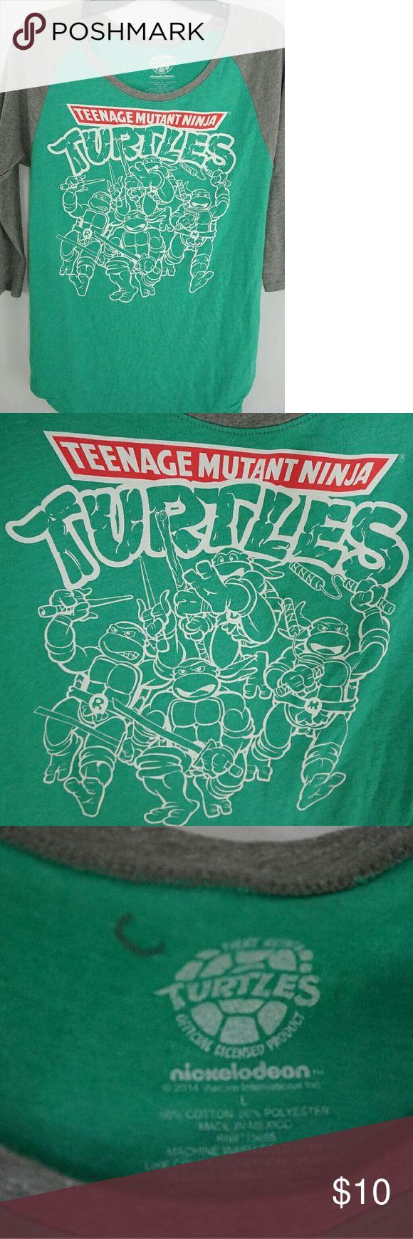 Nickelodeon Ninja Turtle Tshirr Great Used Condition Nickelodeon Tops Tees - Long Sleeve
