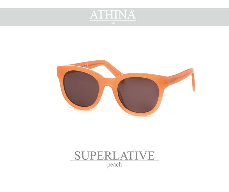 Mod. SUP2121S03 Peach acetate of cellulose frame with unbreakable standard brown lenses.