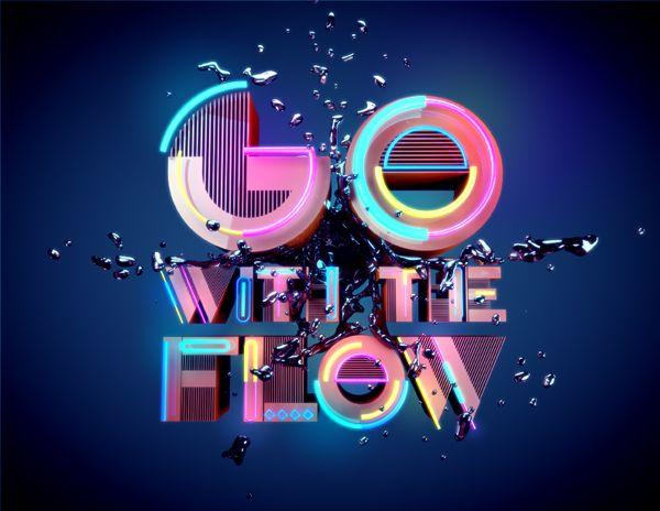 Go with the flow by Erik Castillo, via Behance