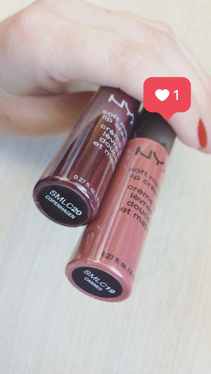 Мои любимые цвета)💋💄Канны, Копенгаген ) сочно, круто, вкусно)🙈😜#косметика #симферополь #макияж #degtereva #degtereva_рекомендует #makeup #lipstick #nyx #nyxmatte #nyxcosmetics cannes Copenhagen