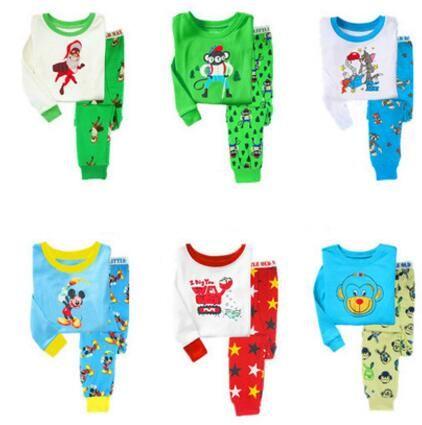2017 children Striped Pajamas Set Cotton Spring Baby Boy Clothes Set Bebes Suit Tops Pants Infant Baby Boy Outfit Clothes Sets