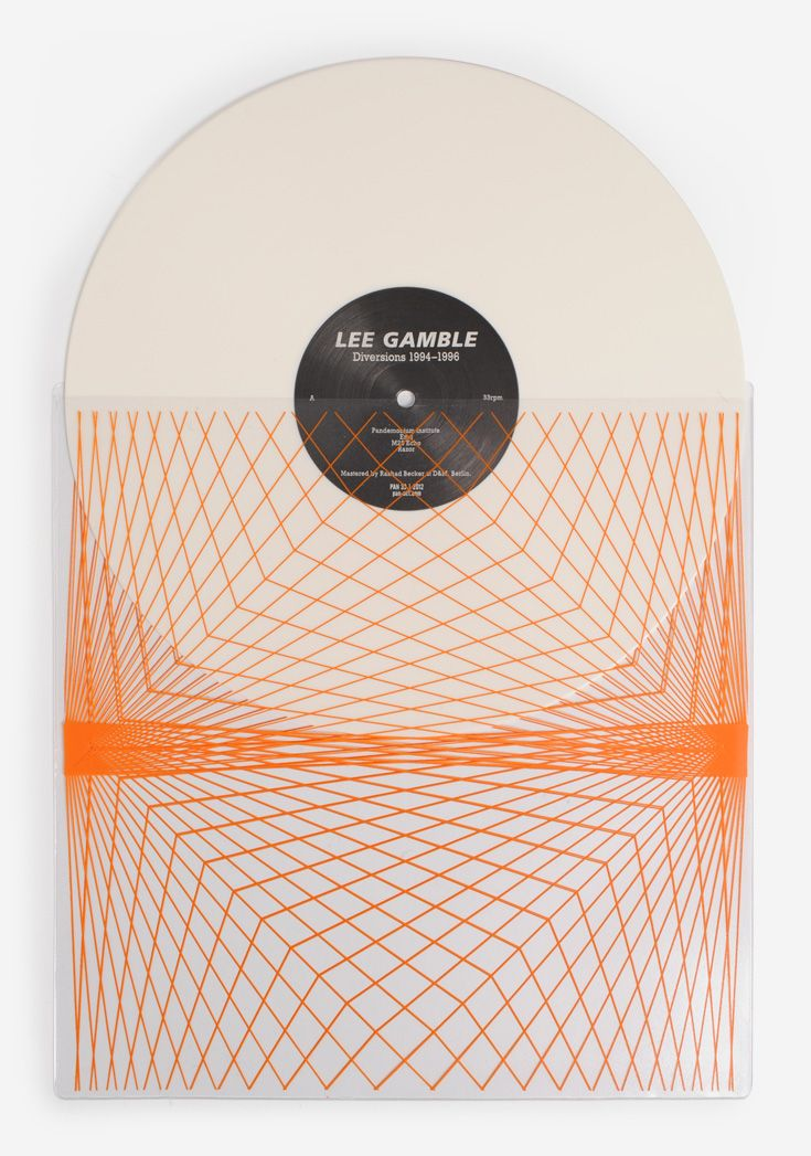 Cool graphic illustration feels a bit like frequency waves  Lee Gamble - Diversions 1994-1996