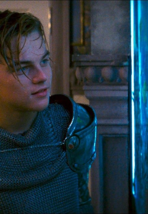 Leonardo Dicaprio in Romeo + Juliet.