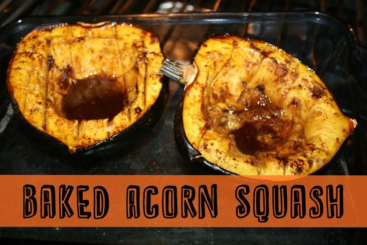 Baked Acorn Squash   Thrifty Below