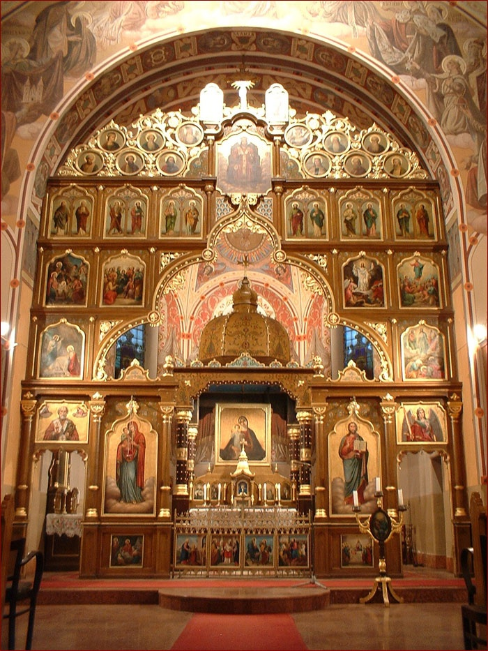 ... Sanctuary of Saint Michael Greek Catholic Church in Miskolc, Hungary.