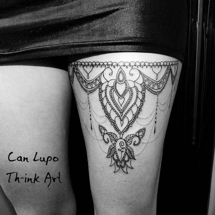 Lace tattoo mandala