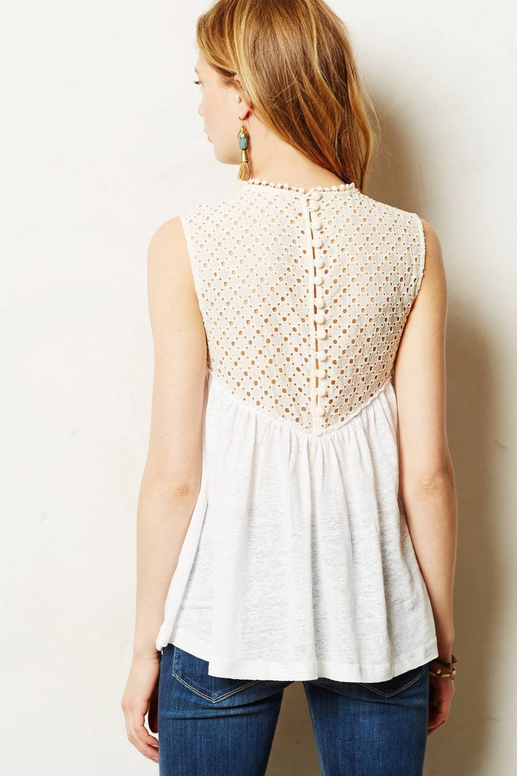 Frothed Eyelet Shell - anthropologie.com