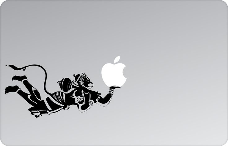 Hanuman Apple Decal by #skinsutra  #apple #hanuman #indian #god #indian #vinyldecal #vinaldesign #vinyl #appledesign #macbook #macbookdecal #appledecal #macbookskin #appleskin #laptopskin