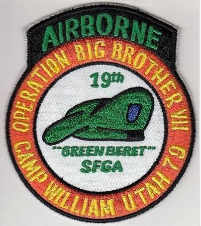 Green Beret US Army Utah 19th Special Forces Group ABN Big Brother 1979 Camp Wil