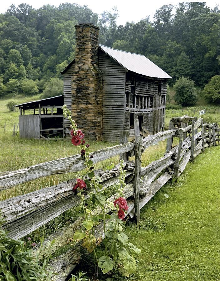 old house and fence in the country