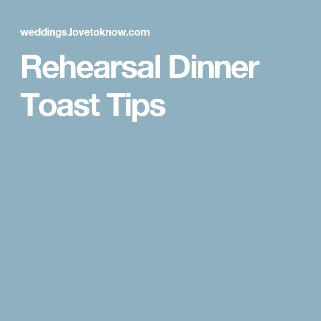 Rehearsal Dinner Toast Tips