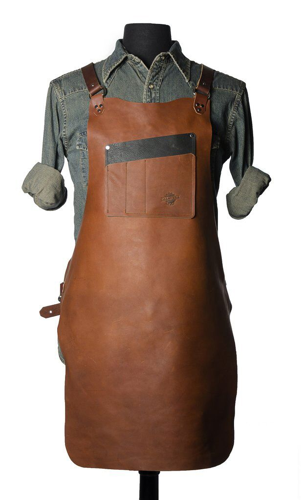 Calavera Tool Works' Rugged Leather Shop Aprons - Core77