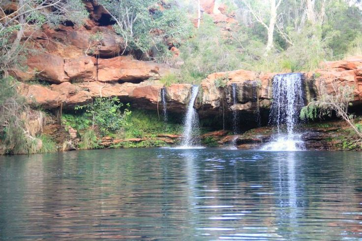 The perfect swimming hole in Karijini National Park #Australia #waterfall