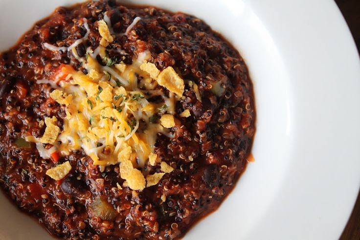 ... Meat Eaters: Red Quinoa and Black Bean Chili and a Cookbook Giveaway
