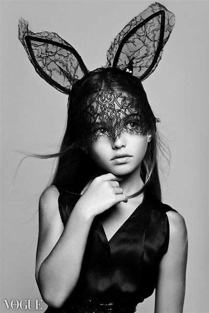 Chic bunny ears #vogue #kids