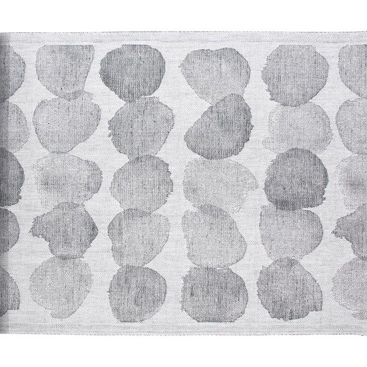 Lapuan Kankurit Sade laudeliina 46 x 150 cm, valkoinen-harmaa