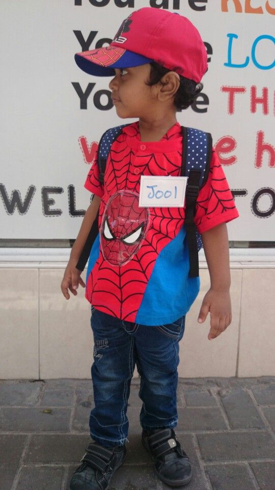 Jool waiting out side PlaySchool. With few weeps.... he enjoyed 1st day in school...