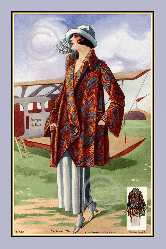 Vintage French Fashion Design,1923