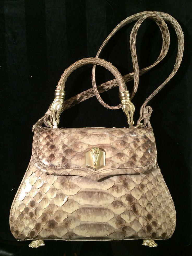 Rare Barry Kieselstein-Cord Iconic Snakeskin Trophy Bag #KieselsteinCord #Satchel