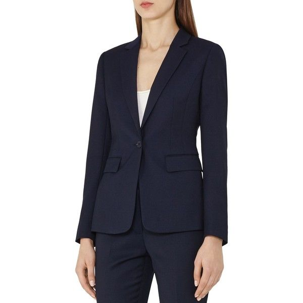 Reiss Indis Tailored Blazer (26.695 RUB) ❤ liked on Polyvore featuring outerwear, jackets, blazers, navy, navy blue jacket, navy blue blazer, reiss, navy jacket and reiss jacket