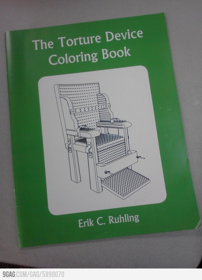 Who Would Like To Color Some Torture Devices