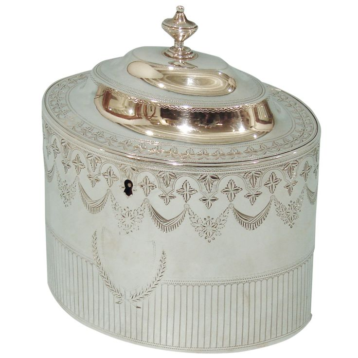 1stdibs | George III Sterling Lidded Tea Caddy