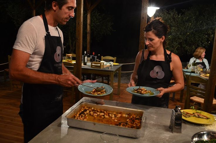 Gallery   Hand Picked Greece Cooking workshop - serving beans slowly cooked in an olive wood fire