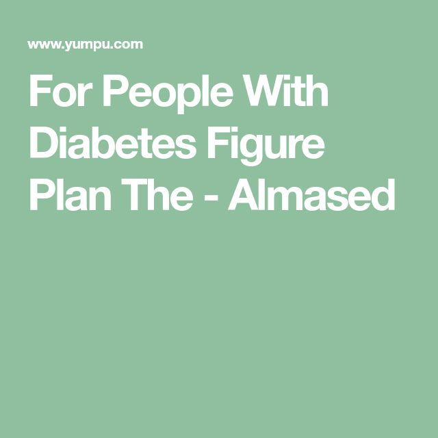 For People With Diabetes Figure Plan The - Almased