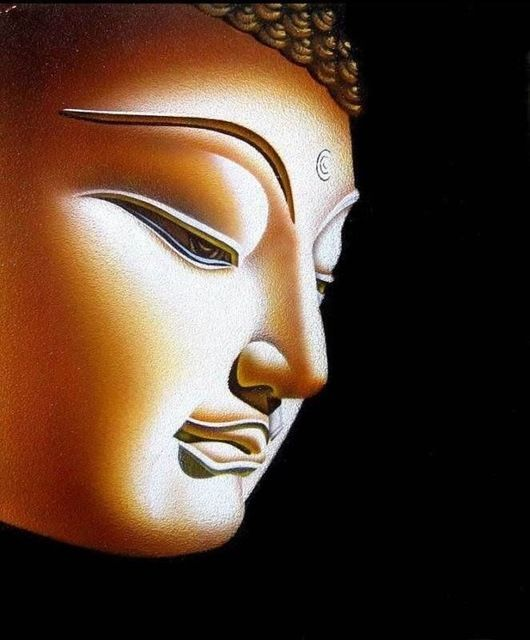 Buddha Canvas Art $90 | https://rolandosgiftshop.com/2015-hand-painted-oil-painting-buddha-buddhism-canvas-art-24-inch-100-hand-painted-work-free-shipping-cost/ #buddha #buddhadecor #buddha4all #buddhastatue #buddhaquotes #homedecor #homedecorideas #homedecorating