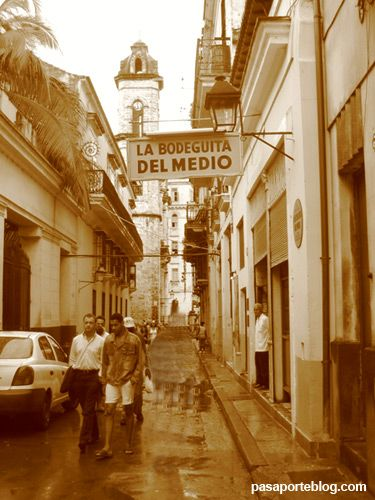 La Bodeguita del Medio, Habana  - made famous by Hemingway but then again he was not a discerning drinker.