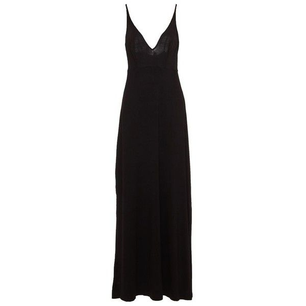 Cosabella Minimalista Maxi Dress (£105) ❤ liked on Polyvore featuring dresses, maxi, multicolor, deep v neck dress, night out dresses, full length dresses, a line party dress and deep v neck maxi dress