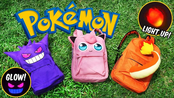 DIY Pokemon Backpack! FREE PATTERN | DIY School Supplies | Gengar, Jiggl...