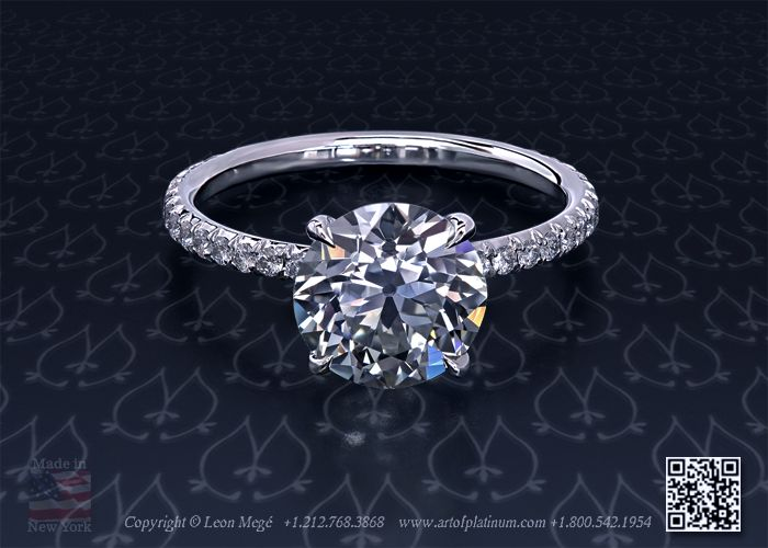 LOOK AT IT!!! its mine, mine i tell you!!! someday... Round Diamond Solitaire Engagement Ring by Leon Megé