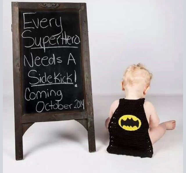 Cute second child announcement