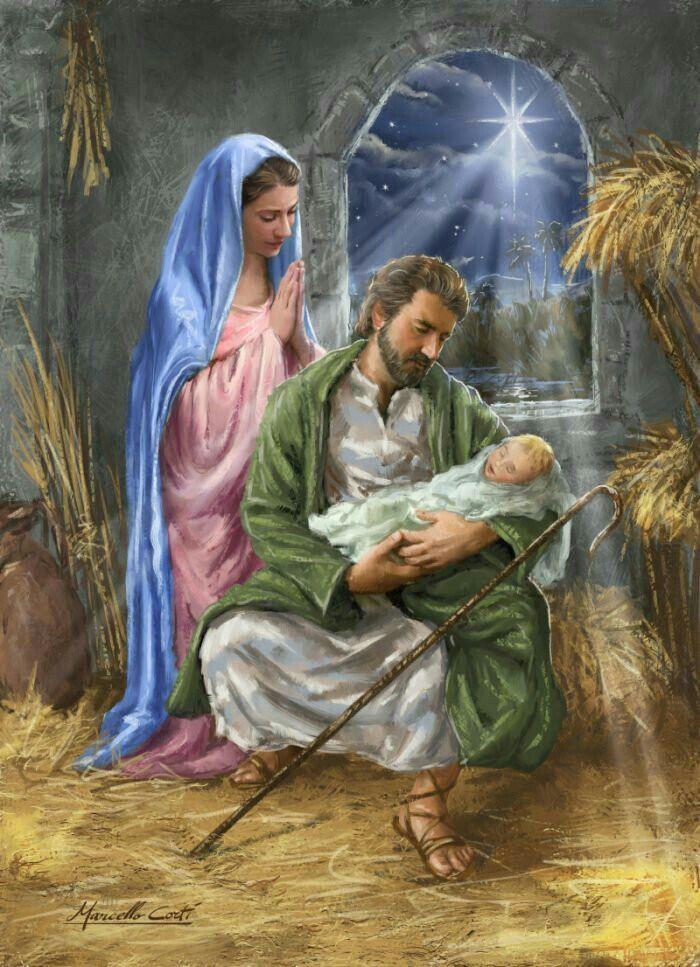 Открытка рождение иисуса