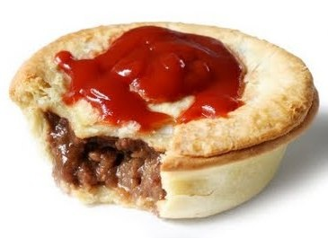 "Aussie meat pie - this is what you eat at the ""Footy"" with a nice cold beer."