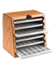 Keep all your fly-tying hooks in order with our handy organizer box. Made in USA.