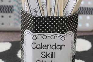 Calendar Skill Sticks- idea for expanding daily calendar time