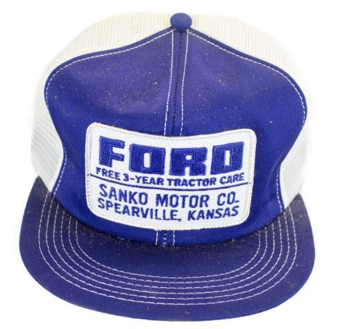 4ed09bc0 4 ViNtAgE FORD TRACTOR PATCH TRUCKER HAT SNAP BACK cap | vintage ...
