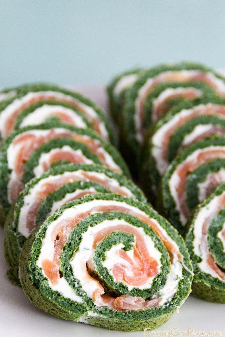 rollo salmon espinacas receta paso a paso